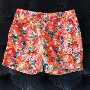 J Crew Women's NWT Flower Print Shorts Size 4